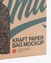 Kraft Paper Bag with a Window Mockup