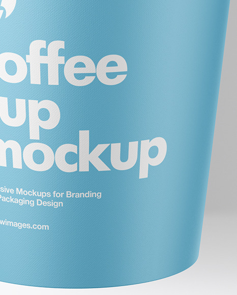 Paper Coffee Cup w/ Spilled Latte Mockup