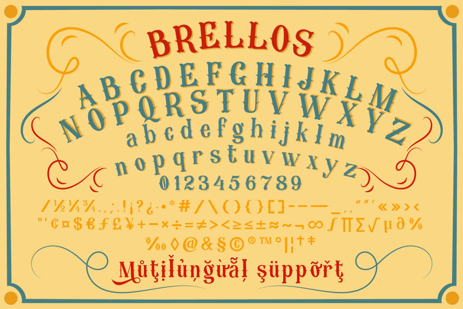 BRELLOS Typeface