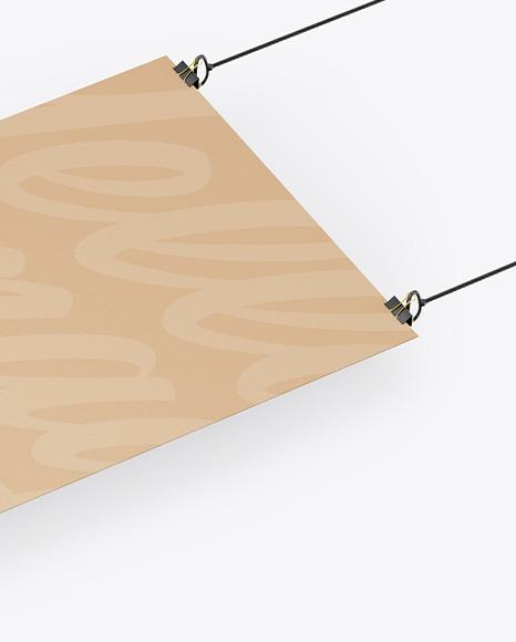 A3 Kraft Poster w/ Pins Mockup