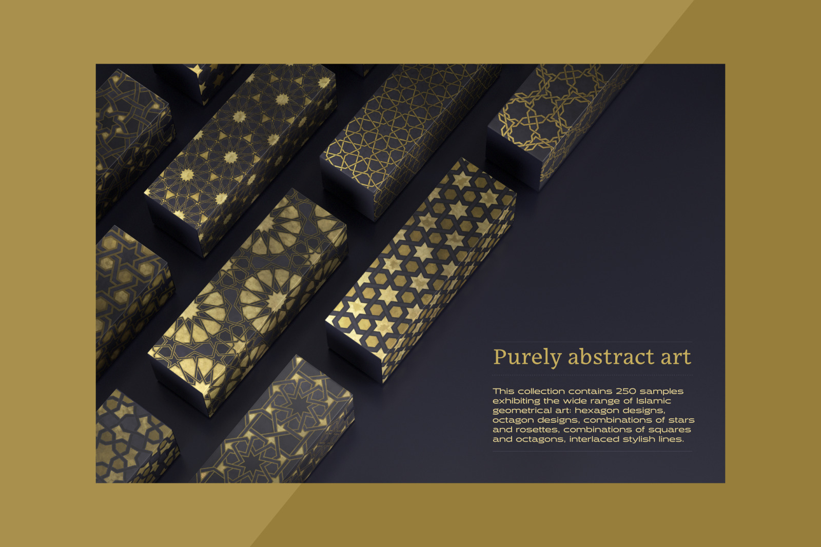Luxury patterns - 250 geometric backgrounds collection