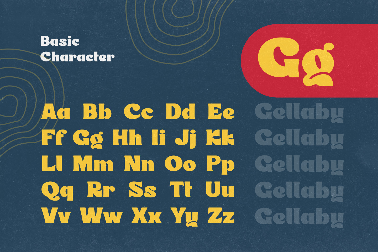 Gellaby - Chubby Display Font