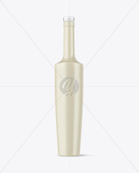 Ceramic Bottle with Glass Cap Mockup