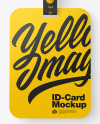 Lanyard w/ Plastic ID Card Mockup
