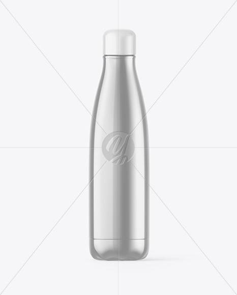 Metallic Thermo Bottle Mockup