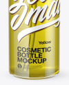 Clear Cosmetic Oil Bottle with Pump Mockup
