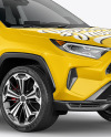 Compact Crossover SUV Mockup - Half Side View