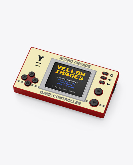 Handheld Game Machine Mockup