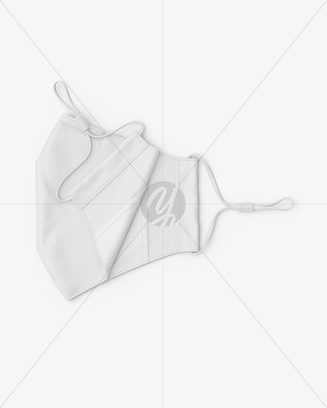 Folded Face Mask Mockup