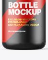 Glossy Bottle w/ Metallic Cap Mockup