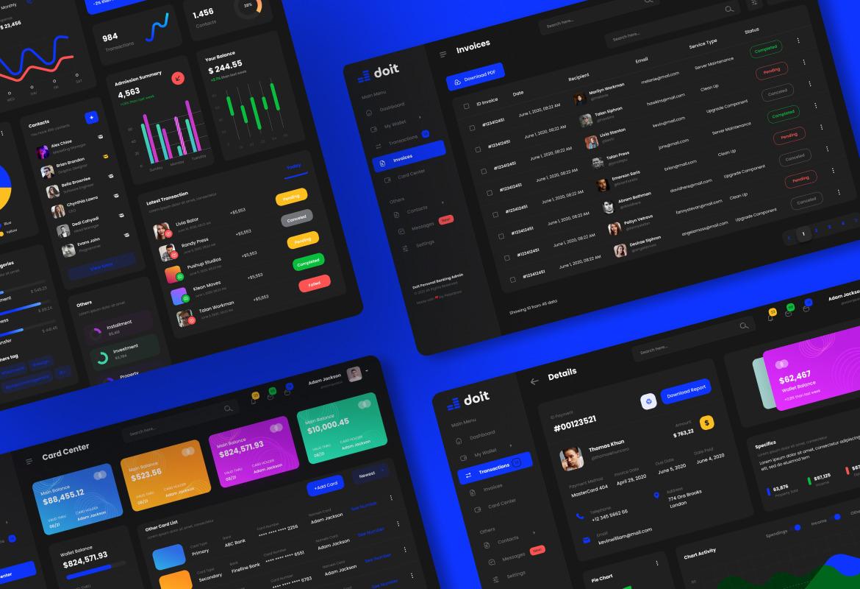Doit - Personal Banking Admin Dashboard UI Template