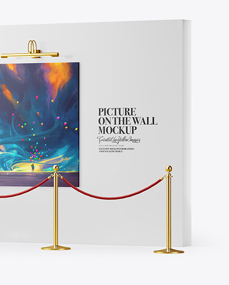 Canvas Picture on the Wall Mockup