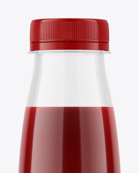Cherry Juice Bottle Mockup