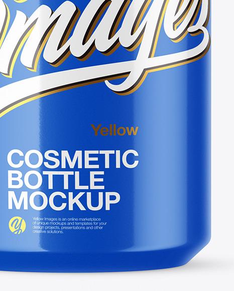 Glossy Cosmetic Spray Bottle Mockup