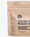 Kraft Stand-Up Pouch Mockup