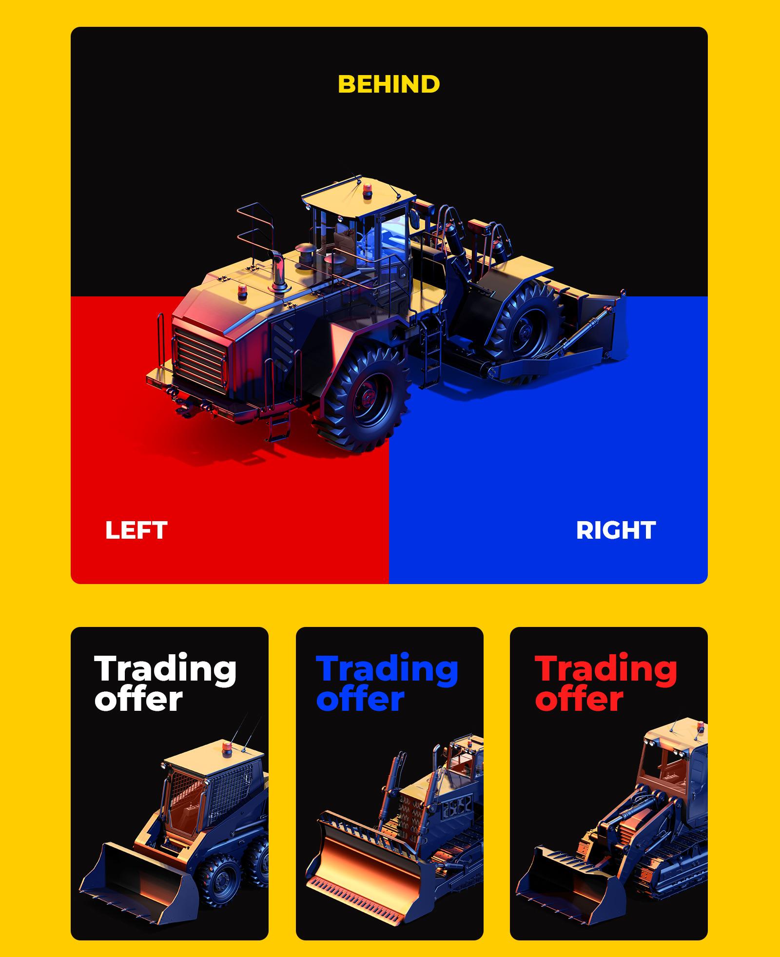 PSD Mockup 3D model Heavy Machines - Track Drill #12