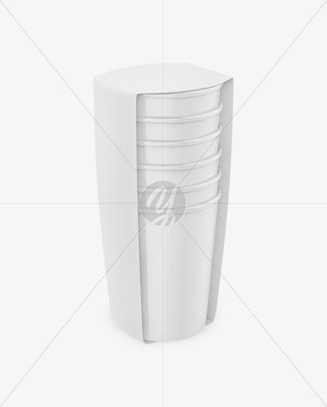 Cups in Packaging Mockup