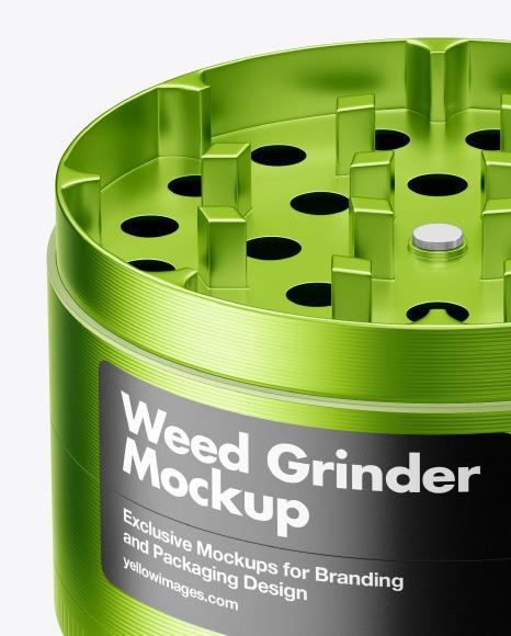 Metallic Herb Grinder Mockup