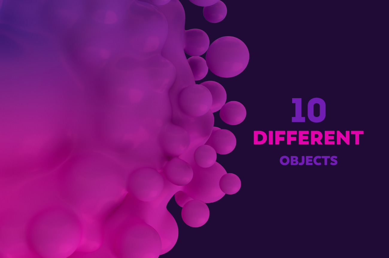 Abstract 3D Render Of Metaball - Pink And Purple