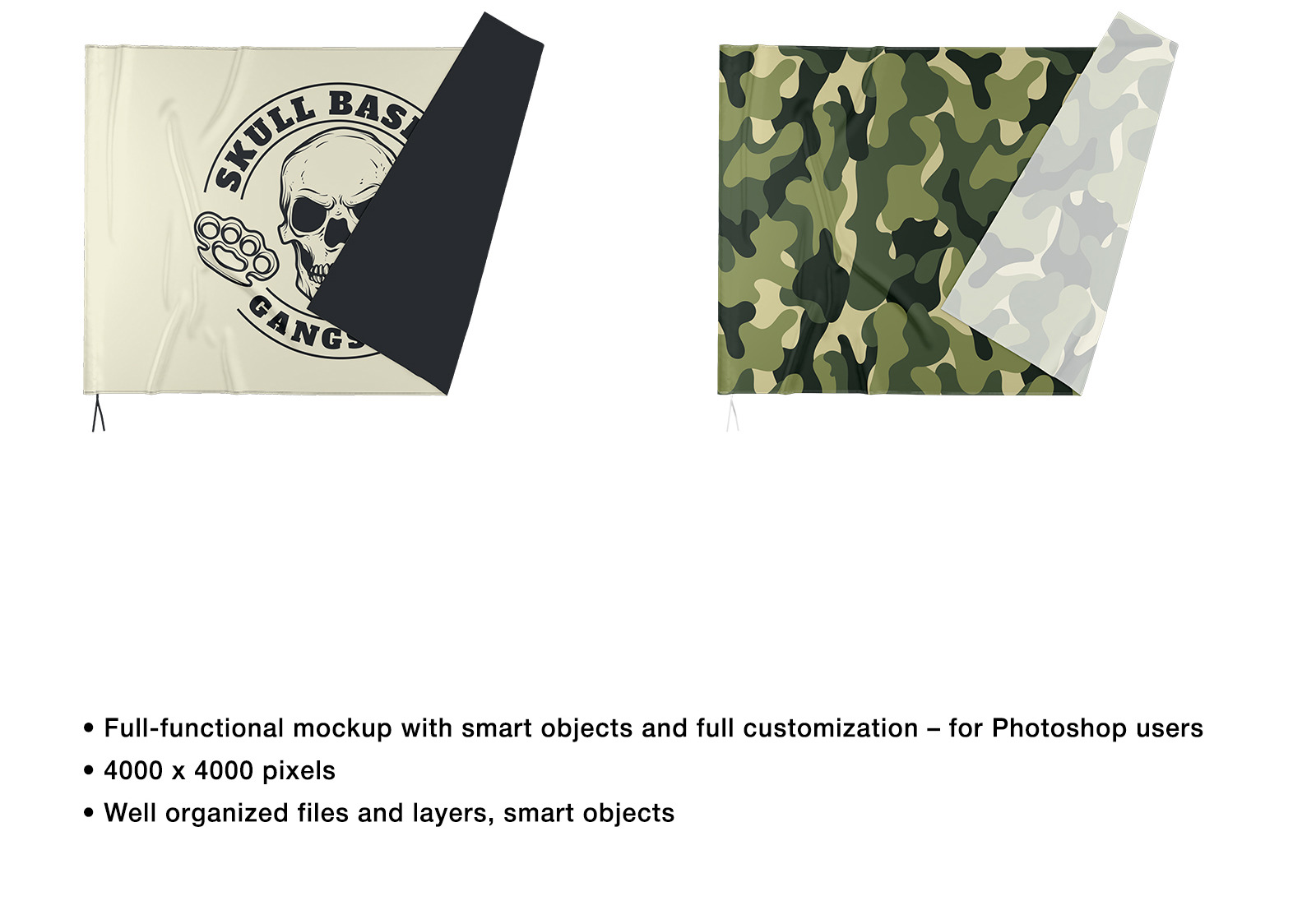 Fabric Flag 2 Mockups