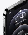 Isometric Apple iPhone 12 Pro Max Graphite Mockup