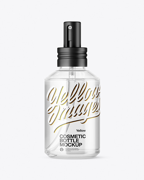 Clear Glass Cosmetic Spray Bottle Mockup