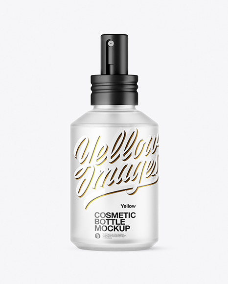Frosted Glass Cosmetic Spray Bottle Mockup