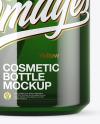 Green Glass Cosmetic Spray Bottle Mockup