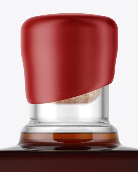 Square Black Rum Bottle Mockup