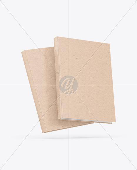 Two Kraft Paper Books Mockup