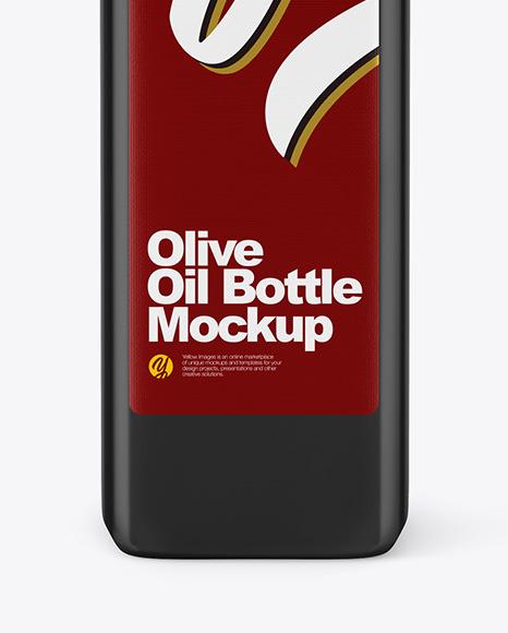 Glossy Ceramic Olive Oil Bottle Mockup