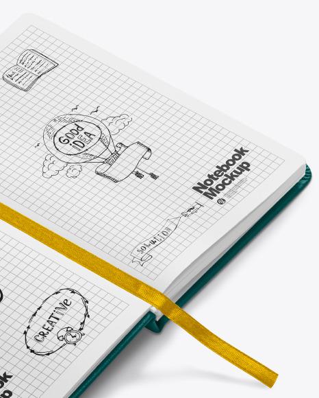 Opened Notebook Mockup