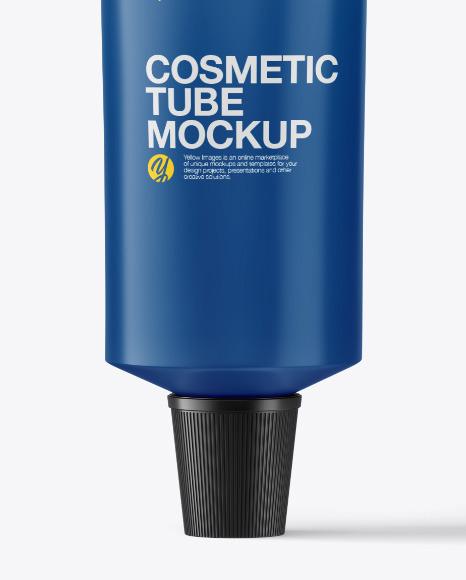 Matte Cosmetic Tube with Kraft Box Mockup