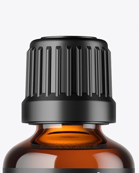 50ml Amber Glass Bottle Mockup