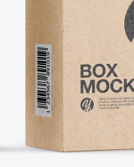 Metallic Cosmetic Tube with Kraft Box Mockup