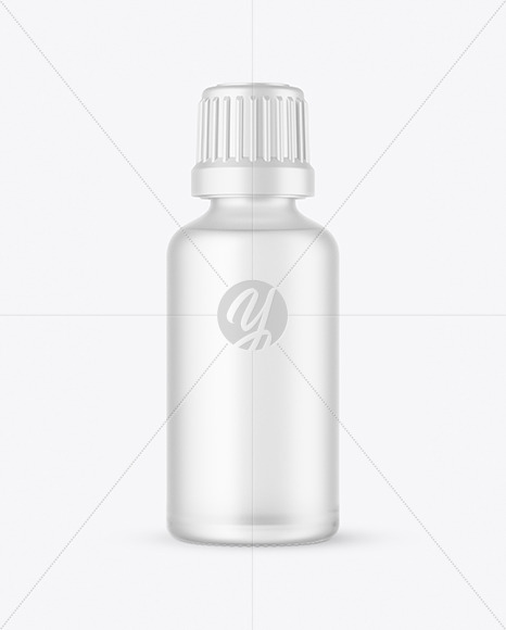 50ml Frosted Glass Bottle Mockup