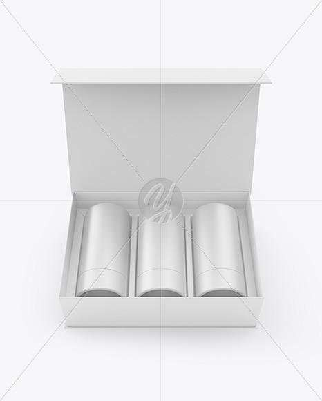 Three Tubes in a Box Mockup