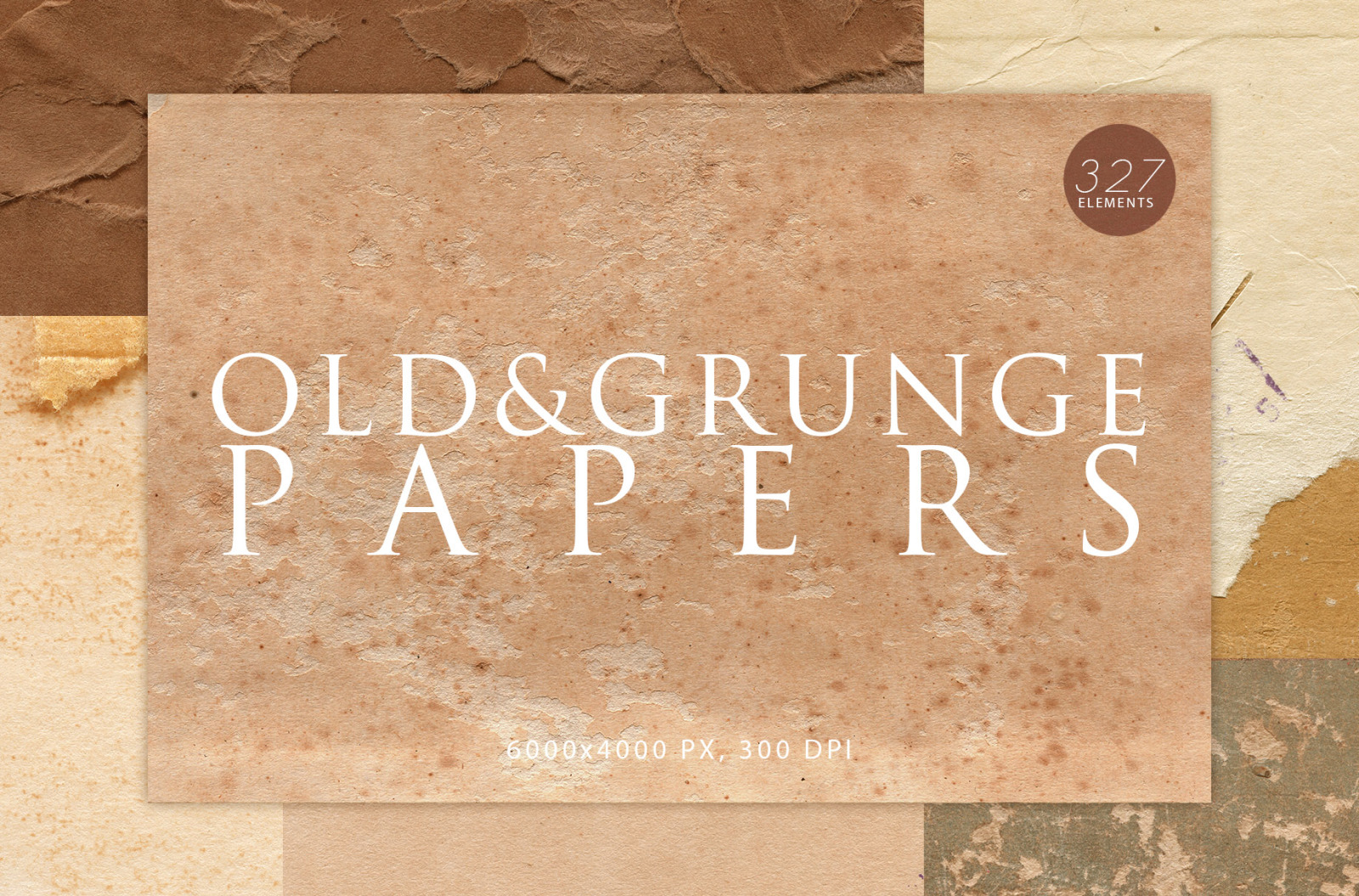 327 Old & Grunge Paper Textures