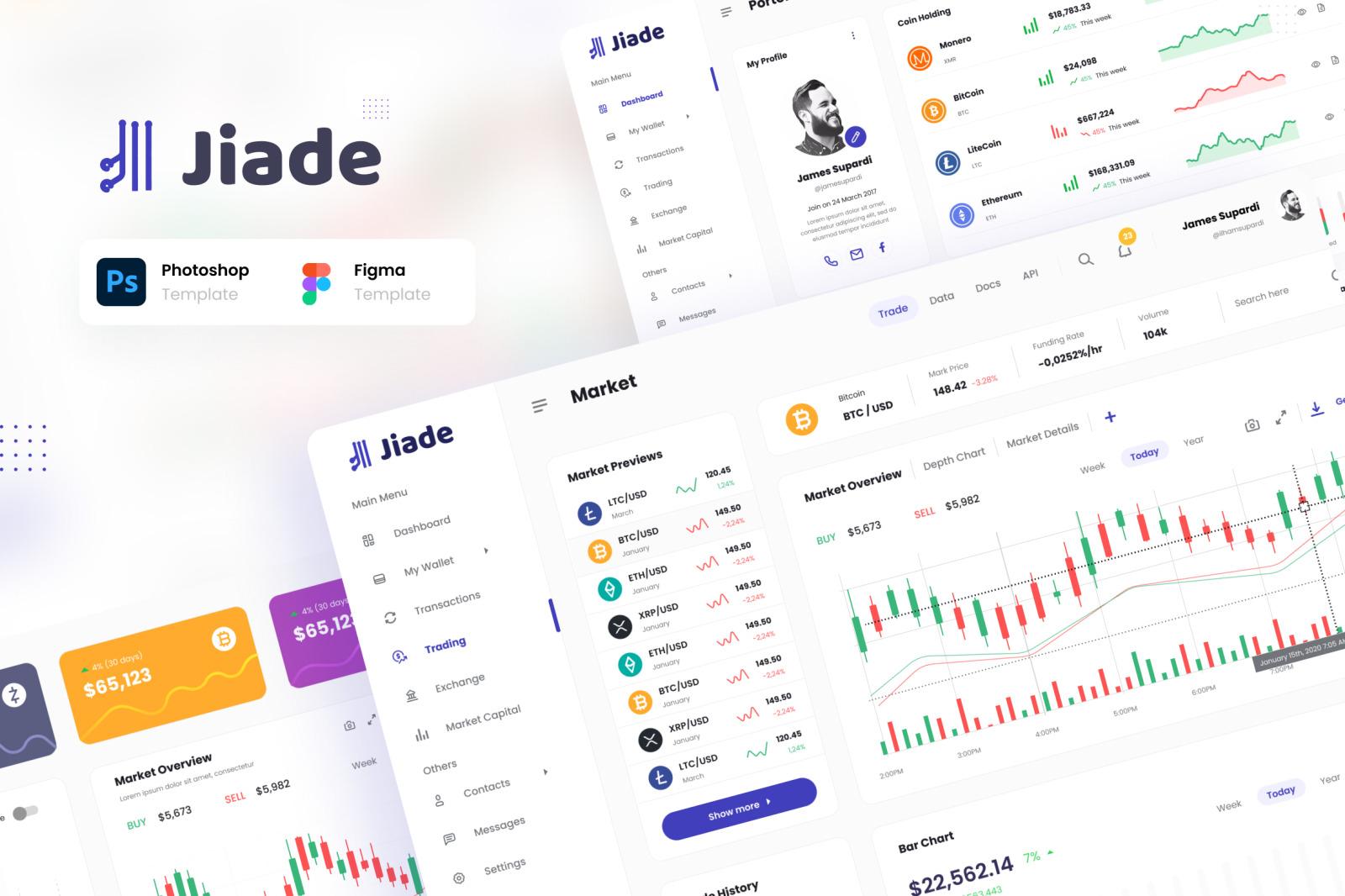 Jiade - Modern Crypto Trading UI Template