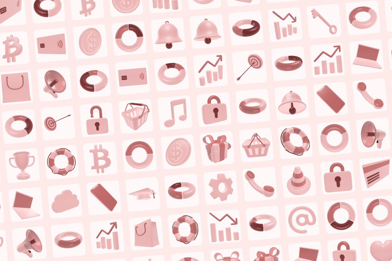 Editable 3D Icons Pack / Interfaces