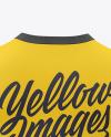 Men's V-Neck Sweatshirt Mockup - Back View