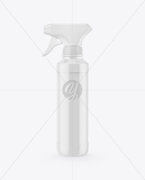 Glossy Trigger Spray Bottle Mockup