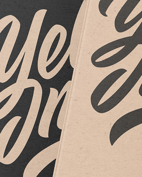 Kraft Paper Hardcover Books Mockup