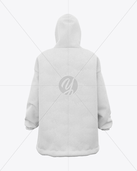 Download Chunky Fleece Oversized Hoodie Back View In Apparel Mockups On Yellow Images Object Mockups