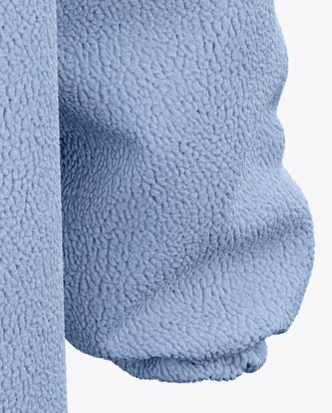 Chunky Fleece Oversized Hoodie - Back View