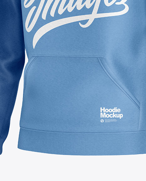 Heather Hoodie Mockup - Half Side View