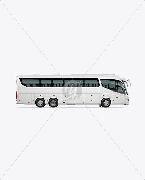 Bus Mockup - Side View - Yellowimages Mockups