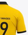 Men's Short Sleeve Polo Shirt - Back View