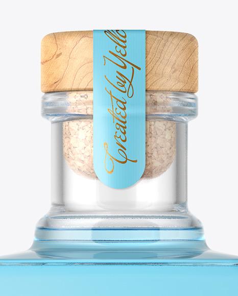 Square Gin Bottle Mockup