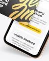 Apple iPhone 11 Pro w/ Business Card Mockup